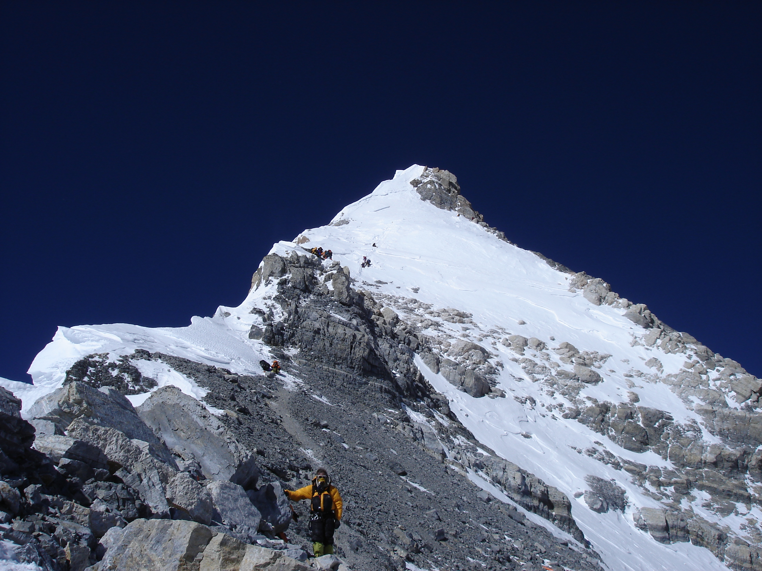 Image: Descending from the summit pyramid