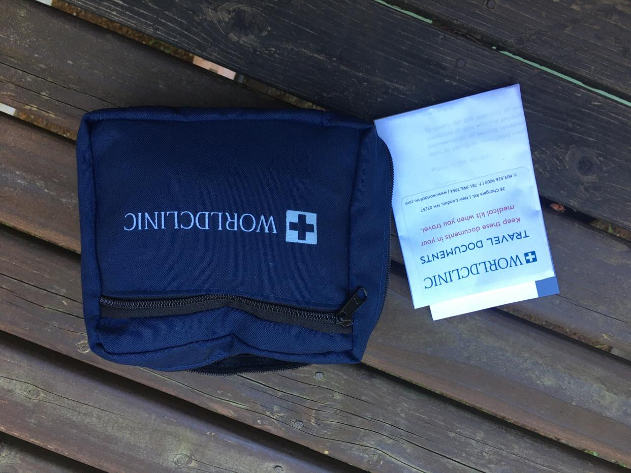 Image: The Personal Medical Kit that WorldClinic assembled specifically for my Pacific Ocean voyage.