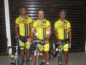 Image: In uniform with my riding partners, Moises and Yovanni.