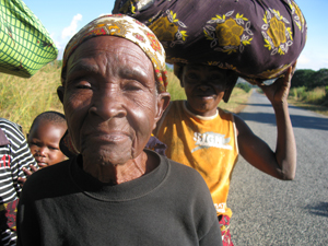 Image: One proud elderly lady on the road, her smile would disappear when I pointed the camera.
