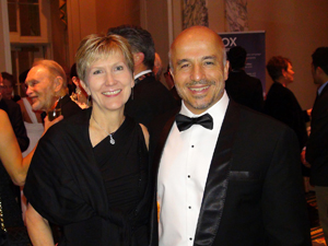 Image: During the reception with Nancy Board at the Explorers Club Annual Dinner.