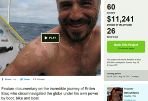 Image: As of my posting of this dispatch, our campaign had reached $11,241. THANK YOU!