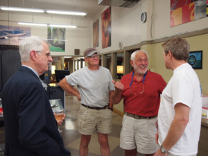 Image: Bill Hinsley (Chairman) with Explorers Club members Frank Handler and Ron Zuber.