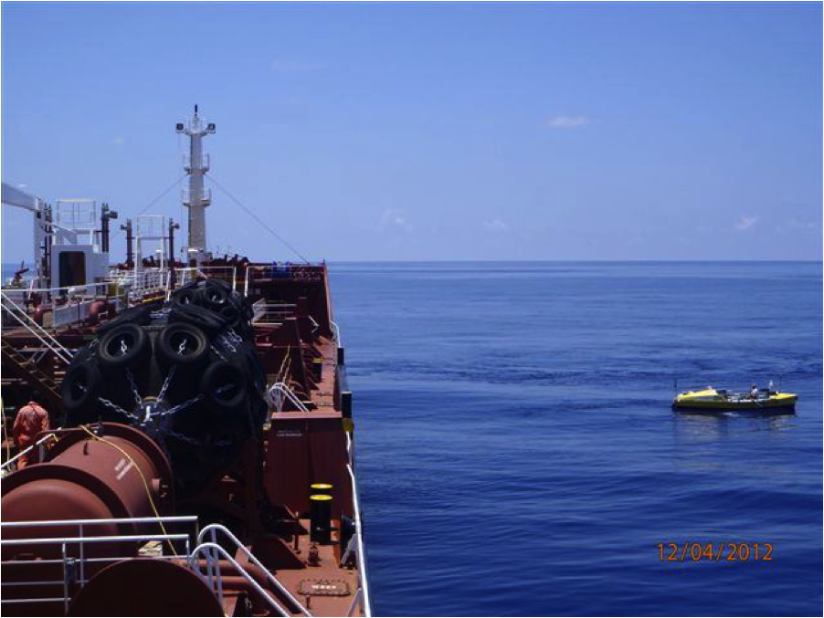 Image: Unlikely meeting at sea with vessel LACANAU
