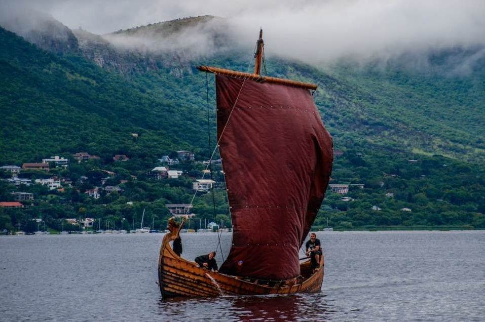 Image: We are preparing our authentic Viking knarr, Midgard Herron for sea trials.