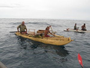 Image: Pastor Moses and his son Benjamin easily kept pace with my boat.
