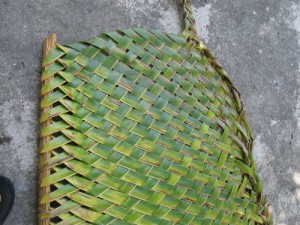 Image: The weaving of coconut leaves created intricate patterns.