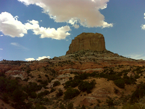 Image: A pictoresque sandstone tower near Monument Valley.