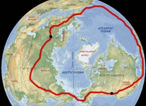 Image: The Canadian journey around the northern hemisphere.