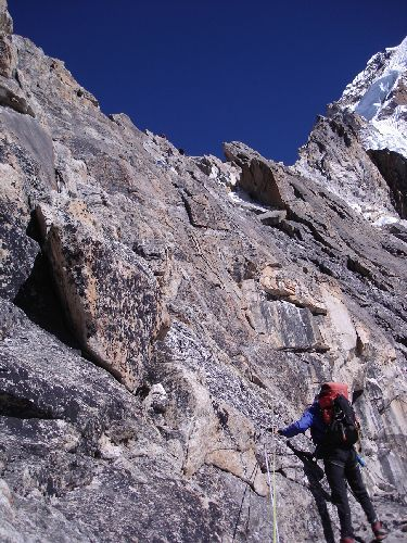 Image: Looking Up A Wall On Way To Camp 2