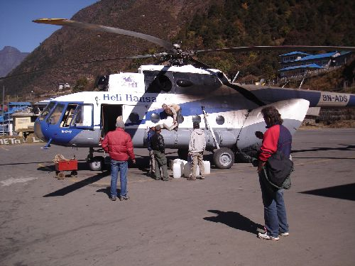 Image: Chopper In Lukla